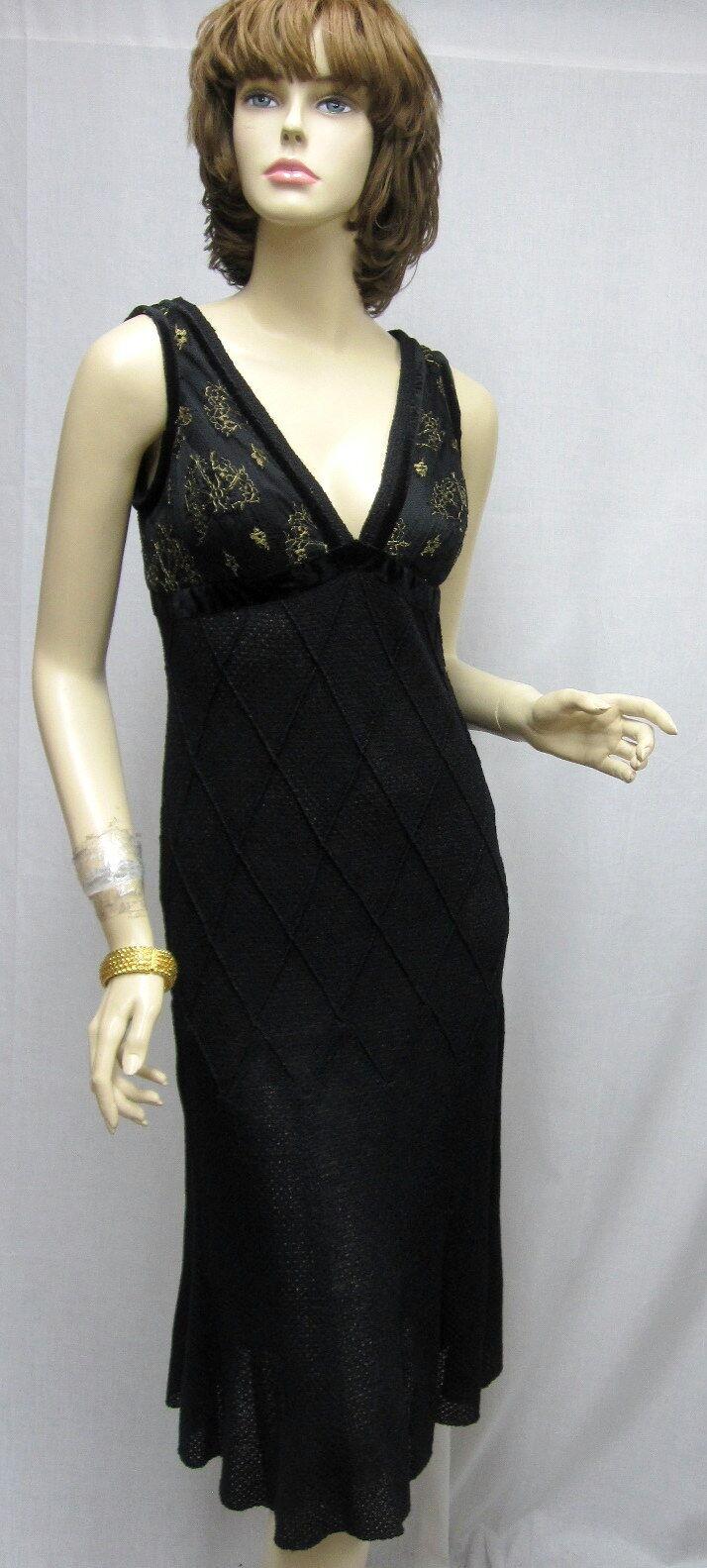 St John Knit Noche Nuevo Con Etiquetas Hermosa  Negro Brillo Vestido Talla 4 RT  1495  mejor servicio