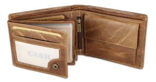 Ca$H Men/'s Leather Wallet Briefcase Wallet Purse in Black /& Brown