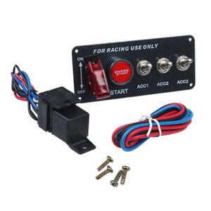 Pannello-Interruttore-Accensione-12V-DC-Per-Leva-LED-Auto-Da-Corsa-Pulsante-Di