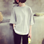 Fashion-Women-Korean-Casual-Short-Sleeve-Girl-039-s-T-shirt-Loose-Blouse-Tee-Tops thumbnail 3