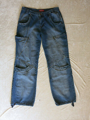 100% Vero Jeans Deener 30/44 - 100% Cotone-blu-poco Indossato-mostra Il Titolo Originale