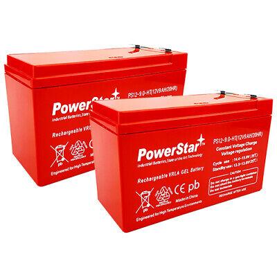 e200s e300 e325-2PK PowerStar Replacement 12V 9AH SLA Battery for Razor e200 e300s e225