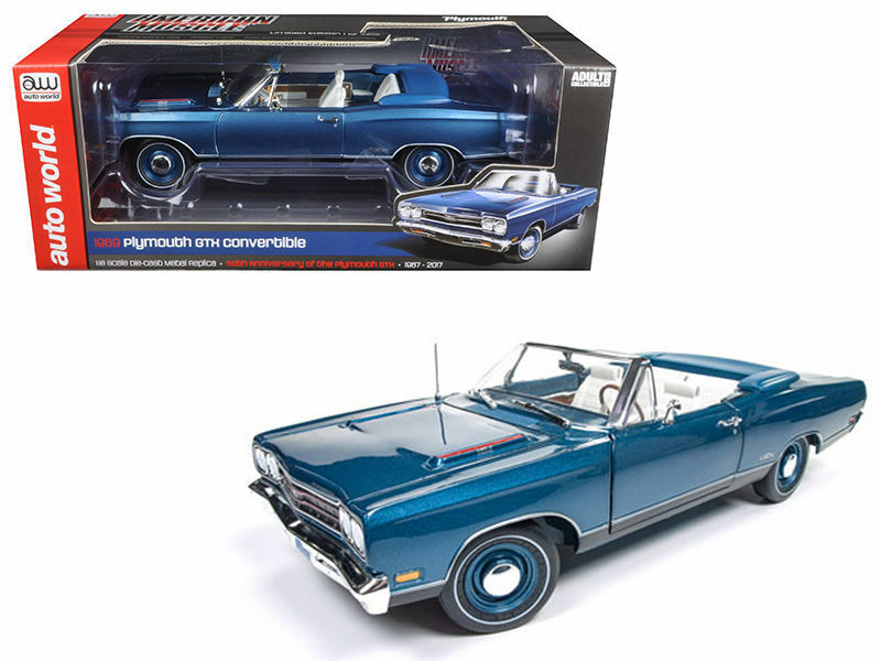 Auto World 1 18 American Muscle 1969 Plymouth Gtx Converdeible DIE-CAST AMM1102
