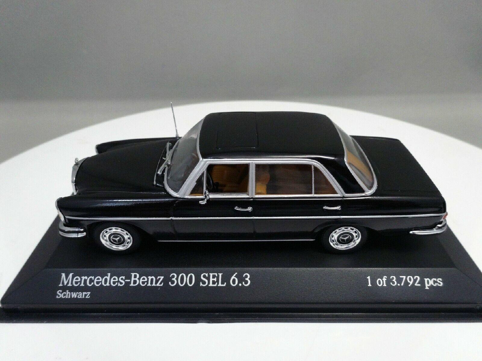 Mercedes - Benz 300 sel 6.3 1968 - 72 negro mini Championship