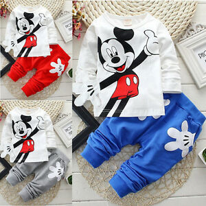 kinder kleidung baby outfits set micky maus sweatshirt. Black Bedroom Furniture Sets. Home Design Ideas