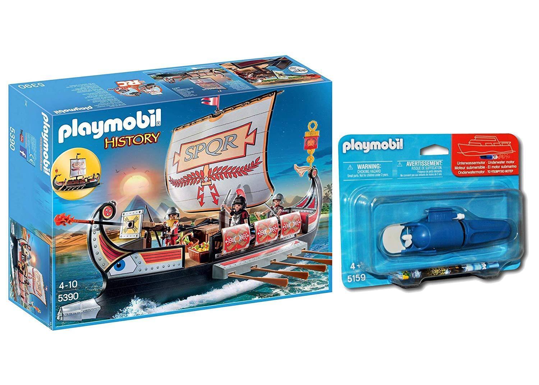 Playmobil Storia 5390- Nave Galea Romana con Motore Sottomarino Incluso