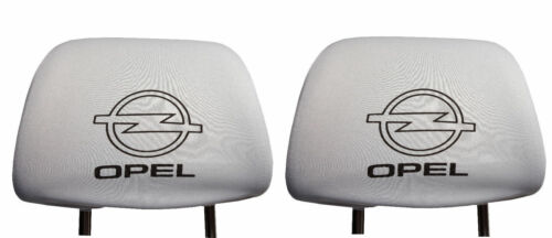 New 2x White Head Rest Cover fit OPEL Two Headrest covers pad