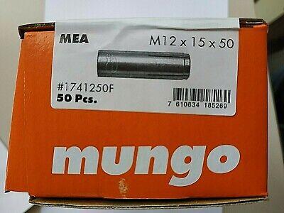 50 Stck ETA-Zulassung MEA//Mungo Einschlaganker M12 X 50 mm verzinkt