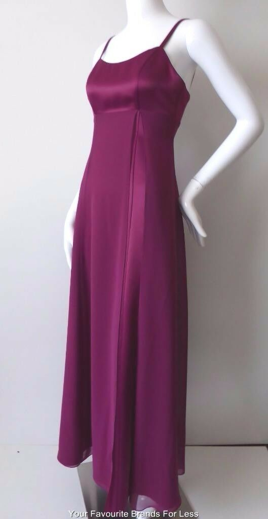 Woherren Dress MR K Größe 6 US 2 Made in Australia lila Sleeveless Evening Gown