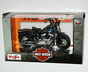 Maisto-Harley-Davidson-2008-FLSTSB-CROSS-BONES-Blue-Model-Scale-1-18