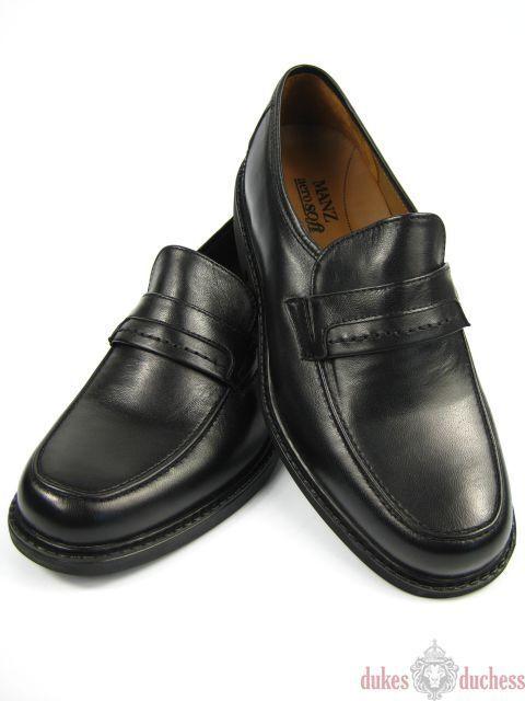 MANZ Lamm Leder Schuhe Slipper aerosoft 166061 K-Weite schwarz Größe 38-50 NEU !