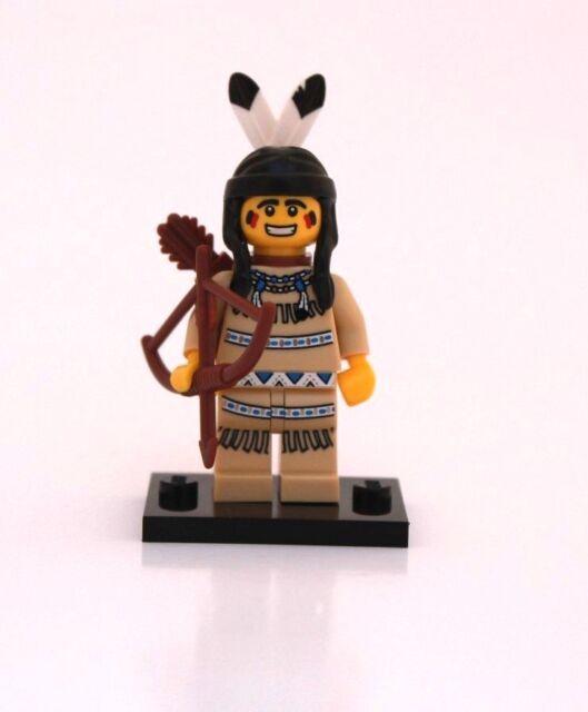 NEW LEGO MINIFIGURES SERIES 1 8683 - Tribal Hunter (Indian)