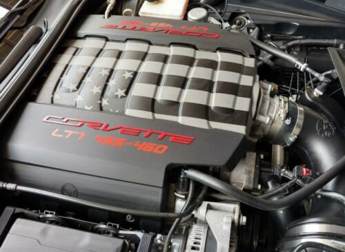 C7 Corvette Stingray//GS 2014-2019 Engine Plenum Cover American Flag Decal