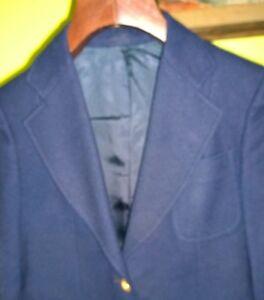 Classic Vintage Navy Blue J. G. Hook Wool Blazer Gold Buttons Preppy Sm Womens
