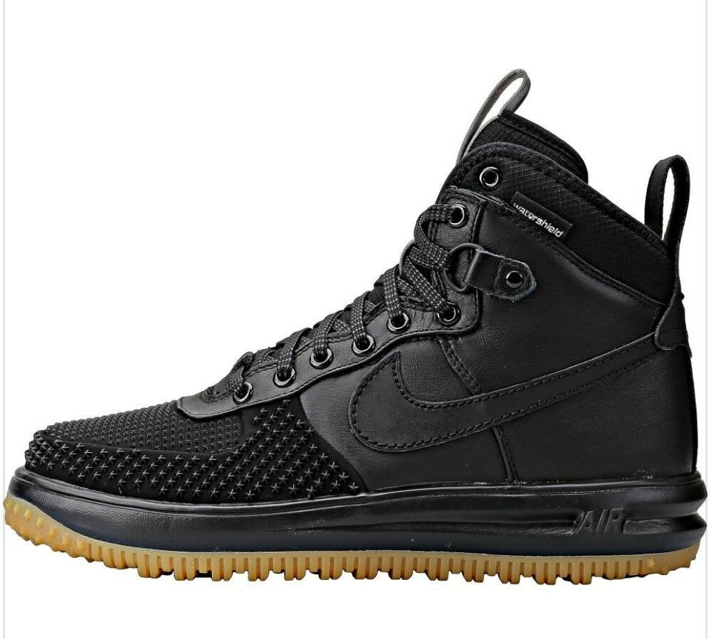 nike lunar air force 1 duckboot gum blé noir taille 9,0 limited chewing - gum duckboot 7168a7