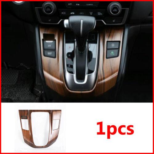 Peach Wood Grain Interior Gear Shift Panel Trim Cover For Honda CRV CR-V 17-2019