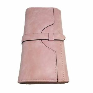 Cute Women s Pink Clutch Purse Wallet Card Holder Coin Pocket Large ... 0c402c831