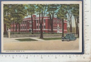 B283-Keene-NH-High-School-postcard-Ida-J-Crane-403-Washington-St-Quiny-MA