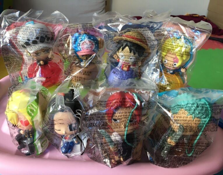 2017 July One Piece McDonald's Happy Meal Toys Complete Sets 8 PCS NIP