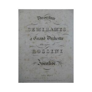 Noten & Songbooks Guillaume Semiramis Orchester Ca1827 Partitur Sheet Music Score Antiquarische Noten/songbooks Effizient Rossini G