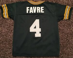 huge discount 83288 bd178 Details about Green Bay Packers Brett Favre Jersey #4 Champion Kid's Size L  7 NFL HOF