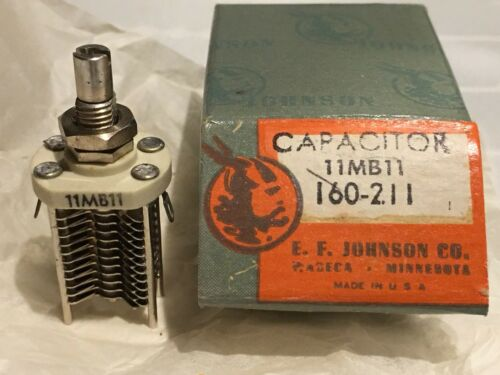 Variable Capacitor  E.F.Johnson Cat 160-211 Type 11MB11 Vintage Never used.