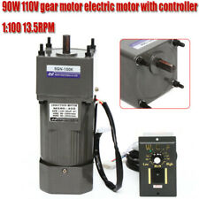90w Gear Motor Ac 110v Electric Motor Variable Reducer Speed Controller 1100