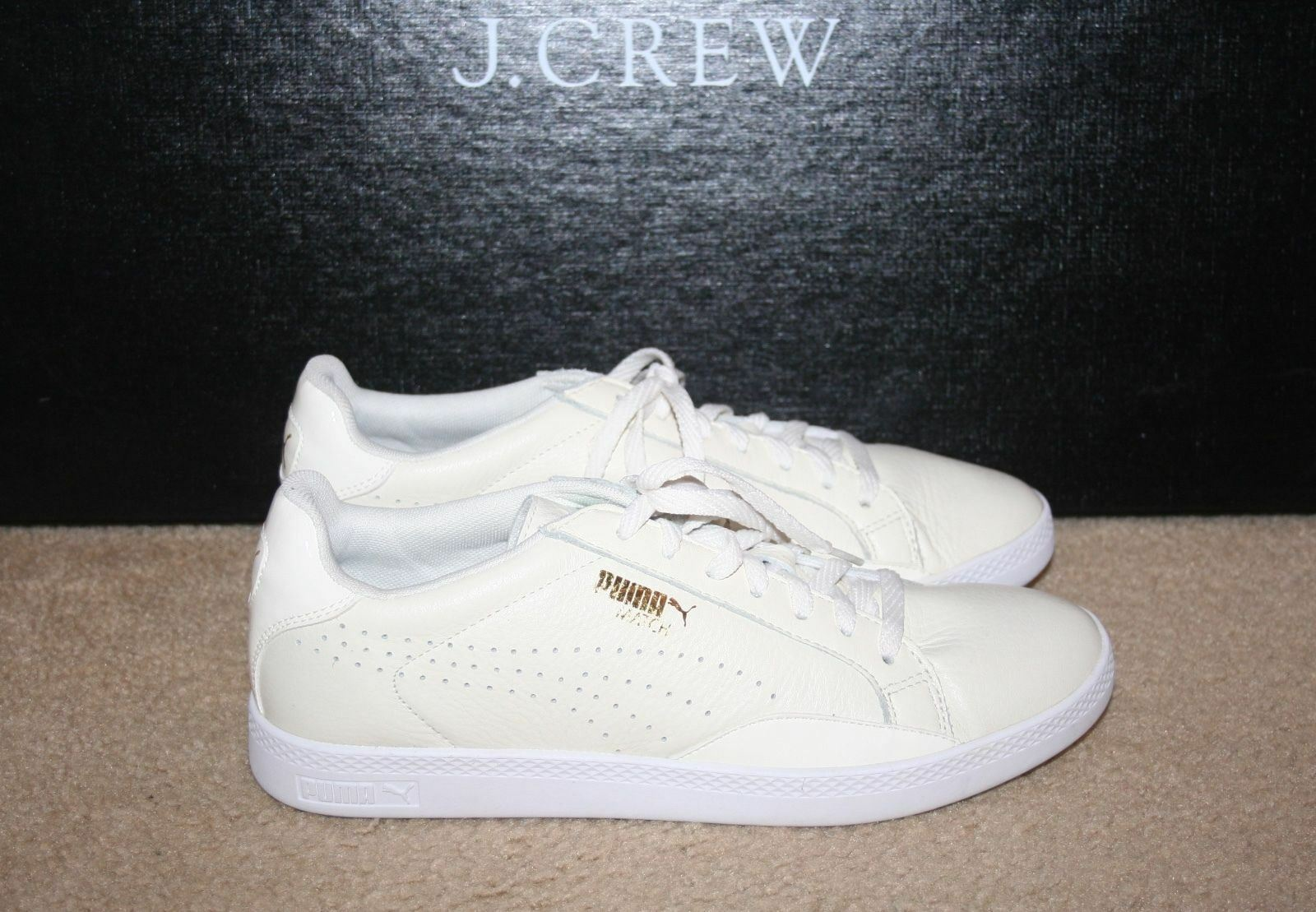 PUMA FOR J.CREW MATCH LOW baskets Taille 10M WHISPER blanc
