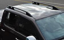 BRUSHED ALUMINIUM BLACK ROOF BAR RACK RAIL SIDE BARS SET - VW VOLKSWAGEN AMAROK