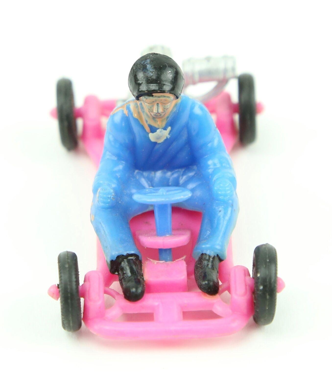 Vintage década de 1960 Go Kart Racing Plastic Toy Toy Toy Cake Topper máquina expendedora de premio rosado ad8332