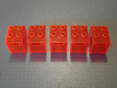 5 Trans Orange Container Lego Post Mail Boxes 2x2x2 4345 4346