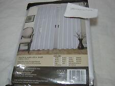 New ESTEX ADELA FAUX SILK Rod Pocket  Window  PANEL - WHITE  54x90 NIP