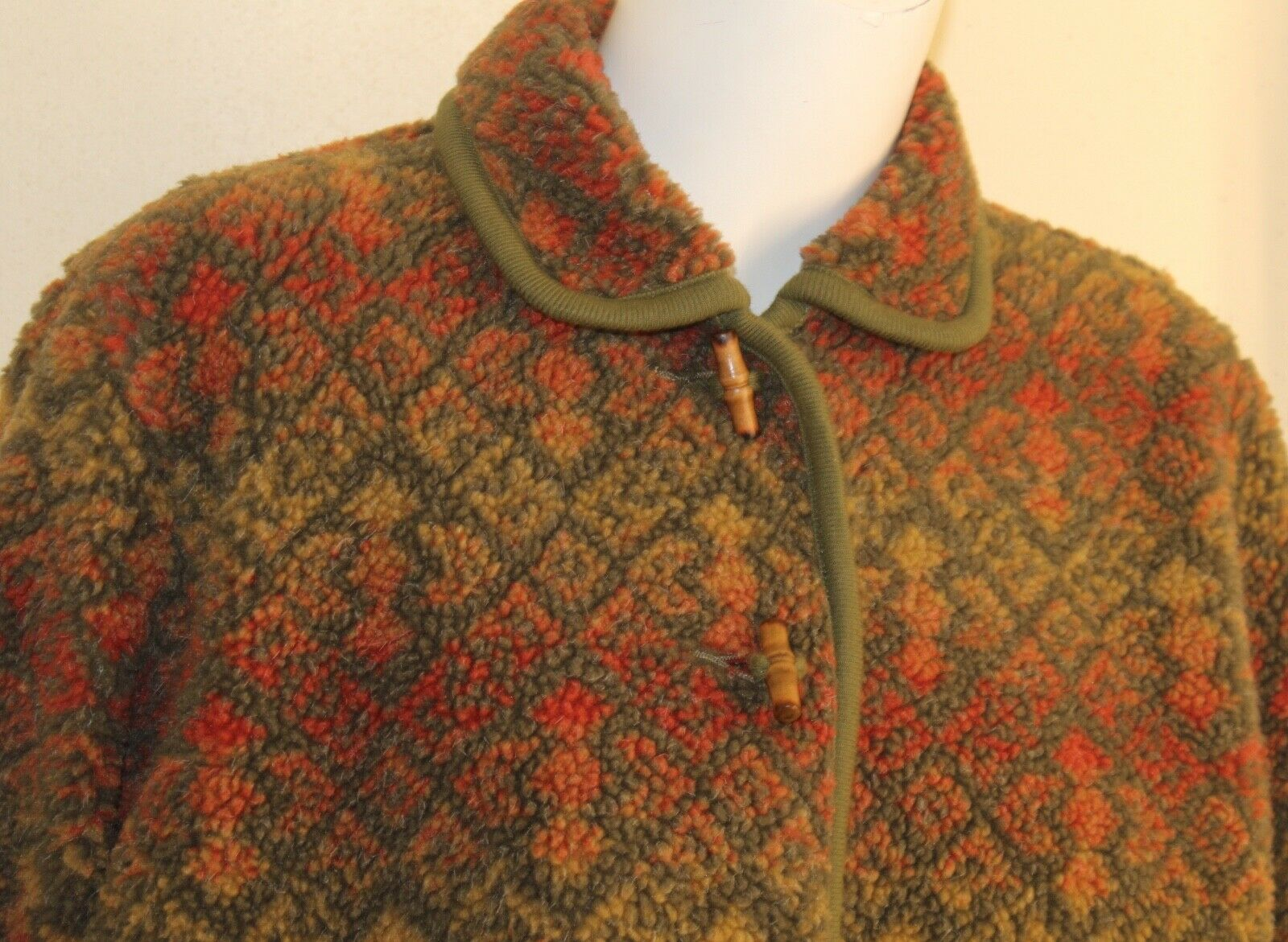 ORVIS -Sz M Lux Deep Pile Fleece Printed Art-to-W… - image 2