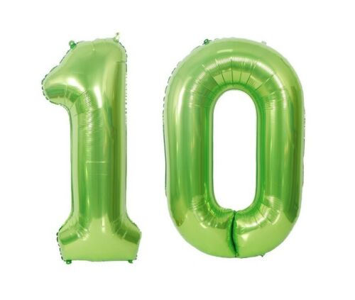 "Giant 40/"" 10 Green Foil Number Balloons Photo Shoot 10th Birthday Float Helium"