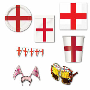 St-George-England-Plates-Cups-Napkins-Tablecover-Banner-Goggles