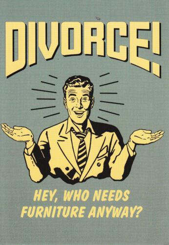 Divorce-Drôle Humour Rétro Carte-F ~ Envoi Gratuit UK