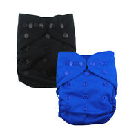 2 Alva Baby Colored Snaps Waterproof Pul Cloth Diaper Cover In Us