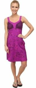 North-Face-Women-039-s-Cadence-Sleeveless-Dress-Magic-Magenta-Purple-Print-Size-XL
