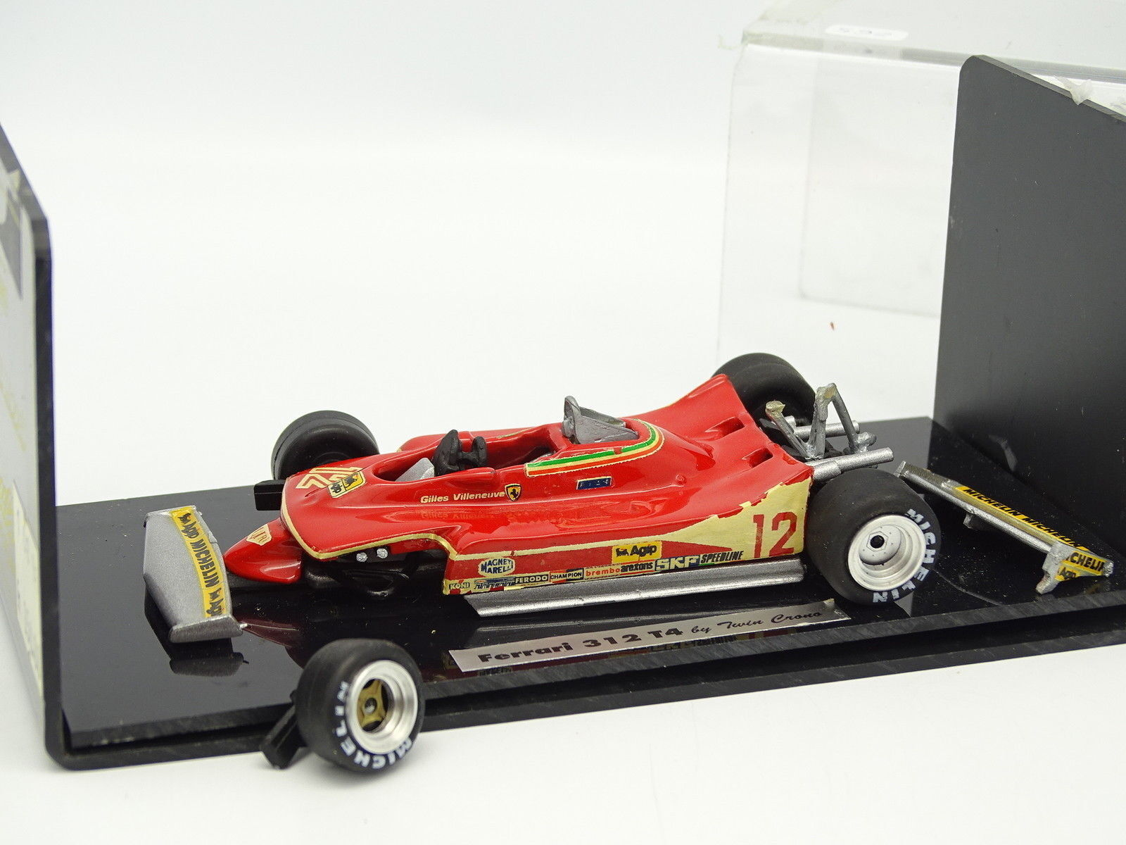 Twin Matt Set Built 1 43 - f1 Ferrari 312 t4 Villeneuve