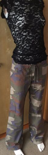 Flare Nwt Drawstrong 4 Long London Camouflage Cargos Jean AwznqOwC
