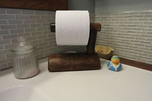 Image Is Loading Toilet Paper Holder Espresso Finish Log Bathroom Wood