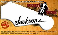 Guitar Headstock Waterslide Decal - Jackson USA