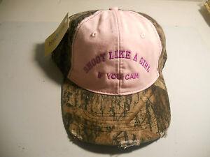 Shooter Cap, Femme Camouflage Rose Et Piège Skeet Ou S Argiles-afficher Le Titre D'origine