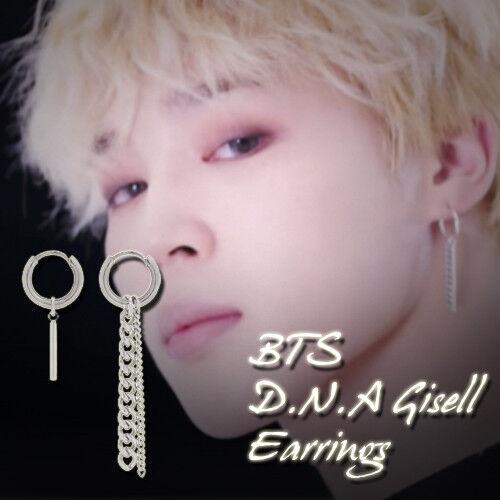 BTS JIMIN D.N.A Gisell Earrings KPOP Style Hot Item Made In Korea 1Pair