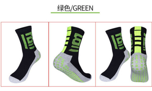 2pairs Mens Size 39-44 Free Sport Non-slip Socks Bottom Drop Glue Elastic New