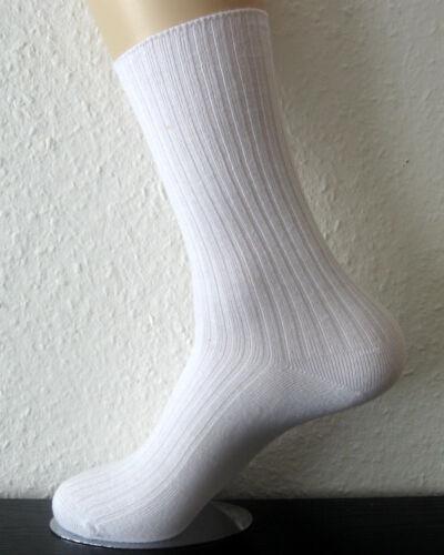 4 Pairs Socks without Elastic Nurse 100/% Cotton 4//2 Ribbed White 35-42