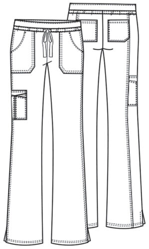 Scrubs Cherokee Workwear Drawstring Cargo Pant 24001 TLBW Teal Free Shipping