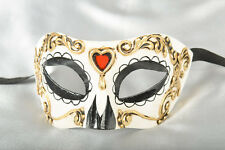 Venetian Day of the Dead Mask - Colombina Masquerade Mask for Halloween
