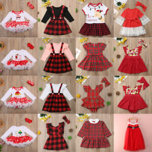 AU-Canis-Toddler-Kids-Baby-Girls-Christmas-Princess-Party-Dress-Outfits-Clothes