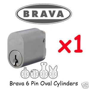 Oval cylinder - 6 PIN - Brava LOCK x1  Lock KEYED ALIKE !!!!